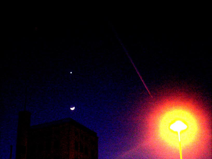 Venus und Mond am Zürcher Nachthimmel 27.2.09