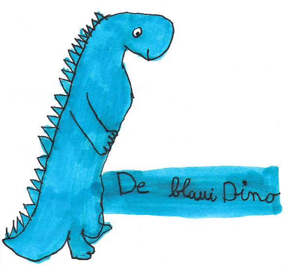 CD-Cover Design Blauer Dino von Mena