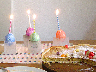 Ostereier-Kerzen by Letizia Lorenzetti