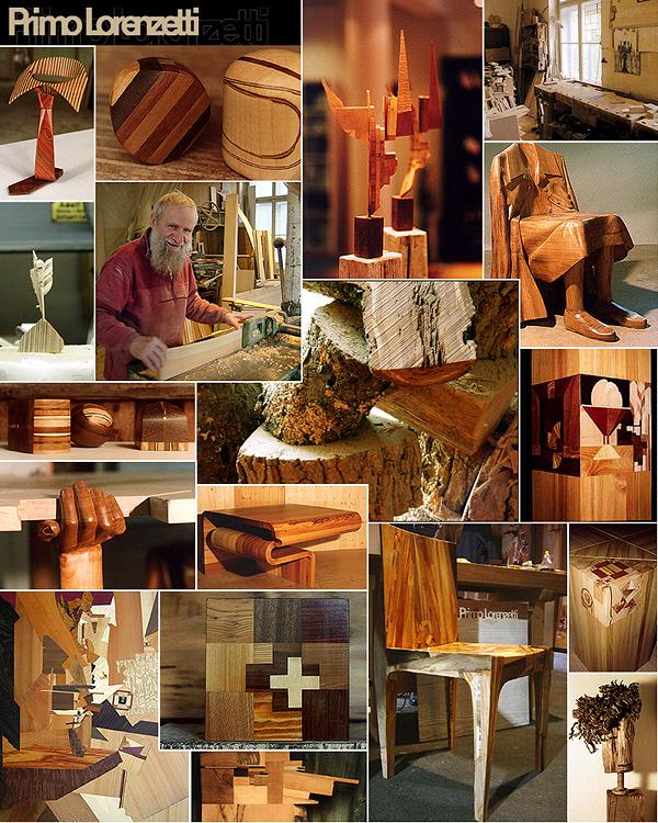 Moodboard und Impressionen von Primo Lorenzetti, dem Zürcher Möbelschreiner und Holzkünstler