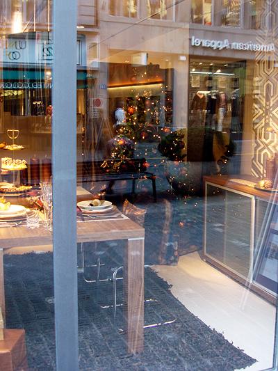 Weihnachts-Dekoration bei Interio am Rennweg