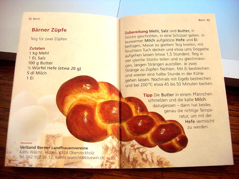 Berner Züpfe Rezept vom Verband Berner Landfrauenvereine